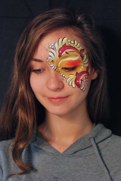 Body Painting, Body Art, Face Painting | Marzia Bedeschi - Red Dolphins
